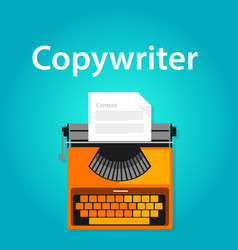 copywriter jobs typing machine typewriter office vector image