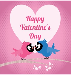 Lovers birds on a branch celebrate Valentines Day vector image vector image