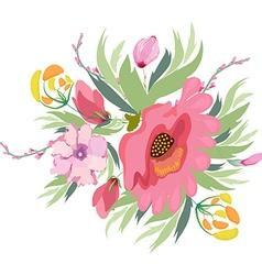 Pastel Pink Purple flowers vector image vector image