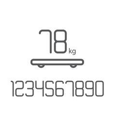 set numbers weight smart scales vector image vector image