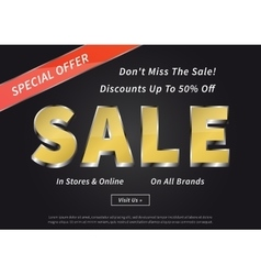 Advertising poster Sale Special Offer vector image vector image