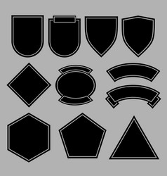 army patches or military badges template design vector image vector image