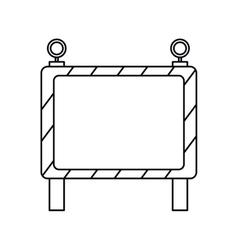 barricade safety maintenance work outline vector image