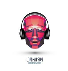 DJ logo design template music or headphones icon vector image