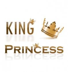 tiara gold 01 vector image