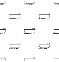 Bathtub icon in black style isolated on white vector image