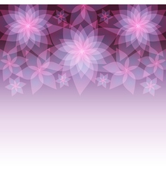 Decorative abstract background with flower lily vector image vector image