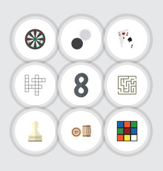 flat icon play set of guess labyrinth lottery vector image vector image