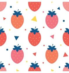 fun strawberries seamless pattern vector image