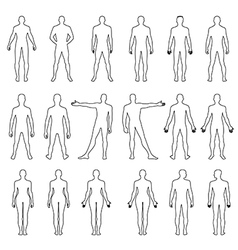 Human outlined silhouette vector image vector image