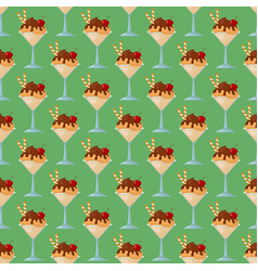 ice cartoon seamless pattern background colorful vector image