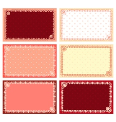 Lacy cards vector image