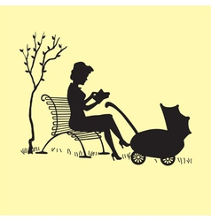motherwithcarriage vector image