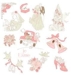 vintage wedding design vector image