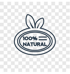 100 natural badge concept linear icon isolated on vector image