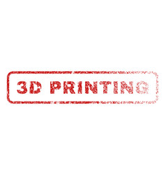 3d printing rubber stamp vector image
