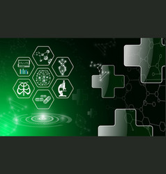 Abstract background technology concept in green vector