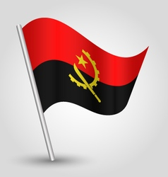 Angolan flag on pole vector