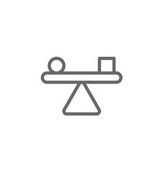 balance symbol icon spiritual concept vector image