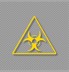 Biohazard warning symbol vector
