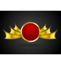 Bright golden logo element vector