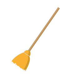 broom isolated icon vector image