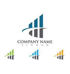 Business finance professional logo template icon vector