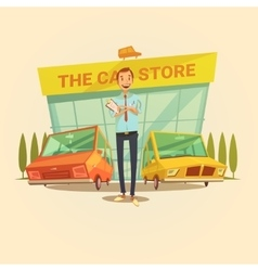 Car Dealer Concept vector