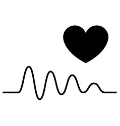cardiogram and a heart icon vector image