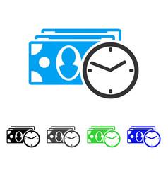 Cash credit flat icon vector