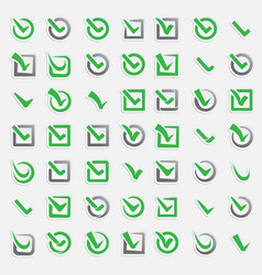 checkbox vote marks icons set check vote vector image