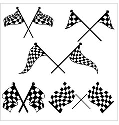 checkered sport racing flag vector image