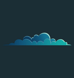 cloud for night view or sky landscape interface vector image