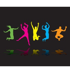 Colourful jumpers vector