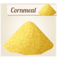 Cornmeal Detailed Icon vector image
