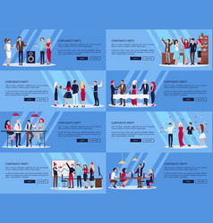 corporate party set of pics vector image