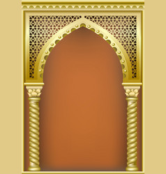 Cover with the arab arch vector