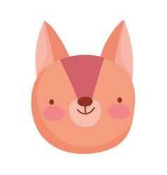 cute squirrel face animal cartoon character vector image