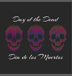 Da de los muertos or english day dead vector