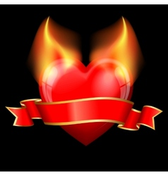 devil heart vector image