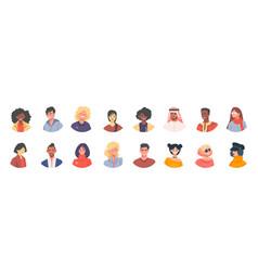 Diverse avatars multicultural men and women vector