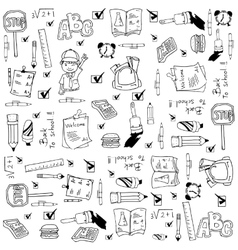 Doodle of school education vector image