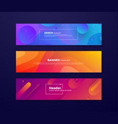 dynamic abstract fluid background for banner vector image