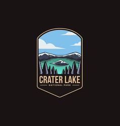 Emblem patch logo crater lake national park vector