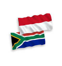 Flags indonesia and republic south africa on vector