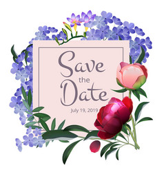 floral frame flowers botanical background vector image