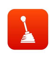 Gear stick icon digital red vector