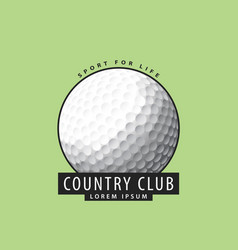 Golf ball on a green background vector