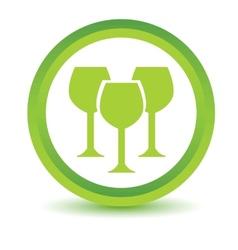 Green stemware icon vector