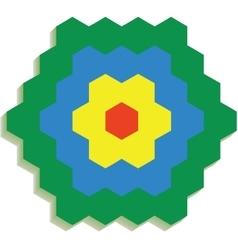 Hexagonal 3d pattern 01 vector